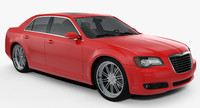 chrysler 300 s car 3d max