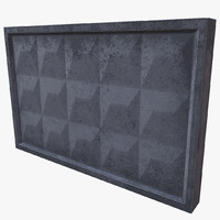 concrete wall 3d 3ds