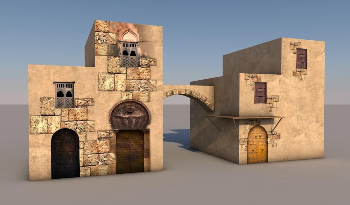 arabic houses 3d 3ds