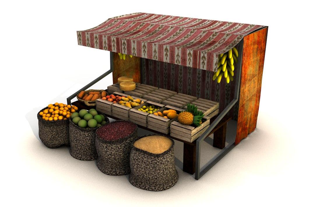 3d fruit store