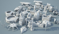 ready star wars junkyard 3d model
