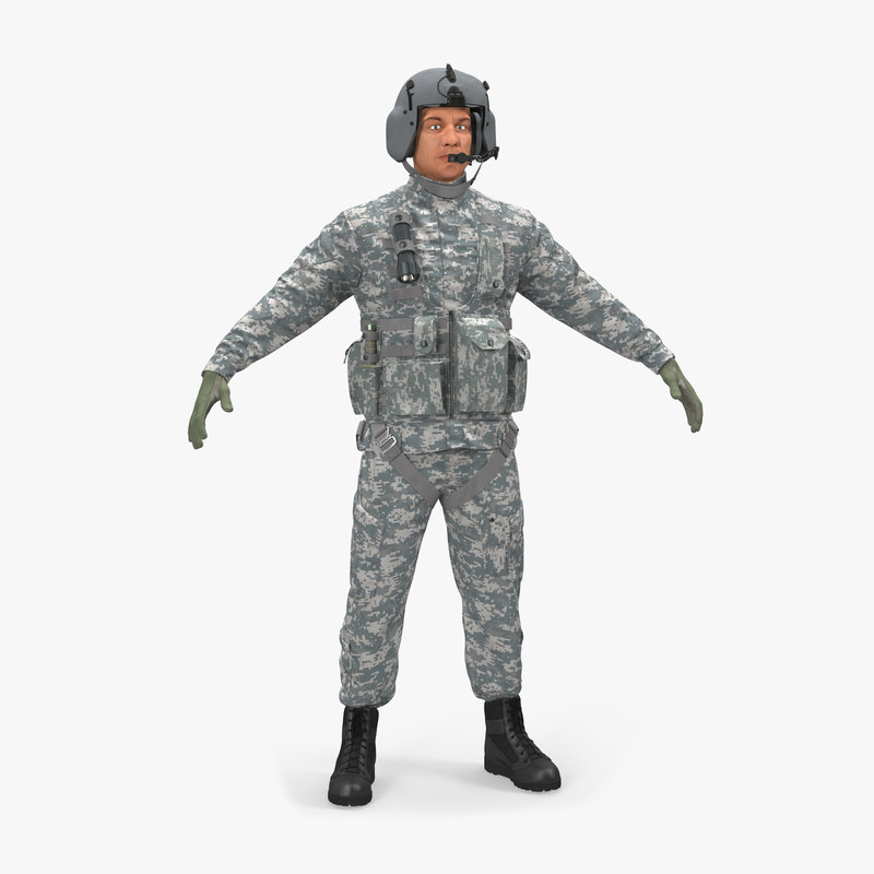 helicopter pilot camo 3d model