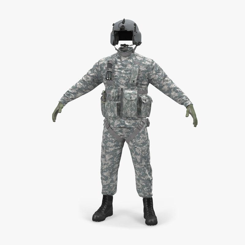 helicopter pilot uniform camo obj