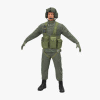 helicopter pilot 3d model