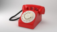 Low Poly Vintage 50s  Phone