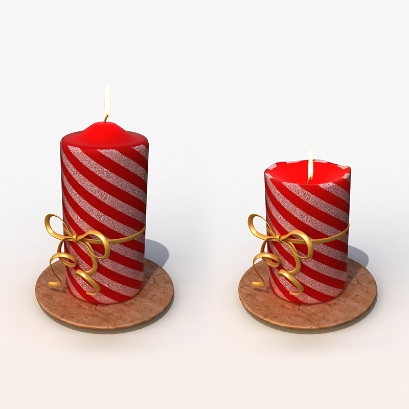 3d christmas candle