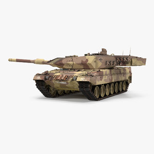 3d german battle tank leopard model