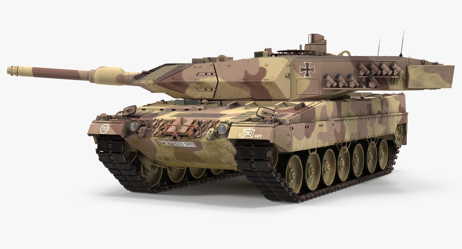 3d german battle tank leopard model