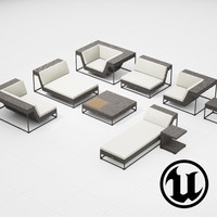 3d model of dedon zofa set ue4