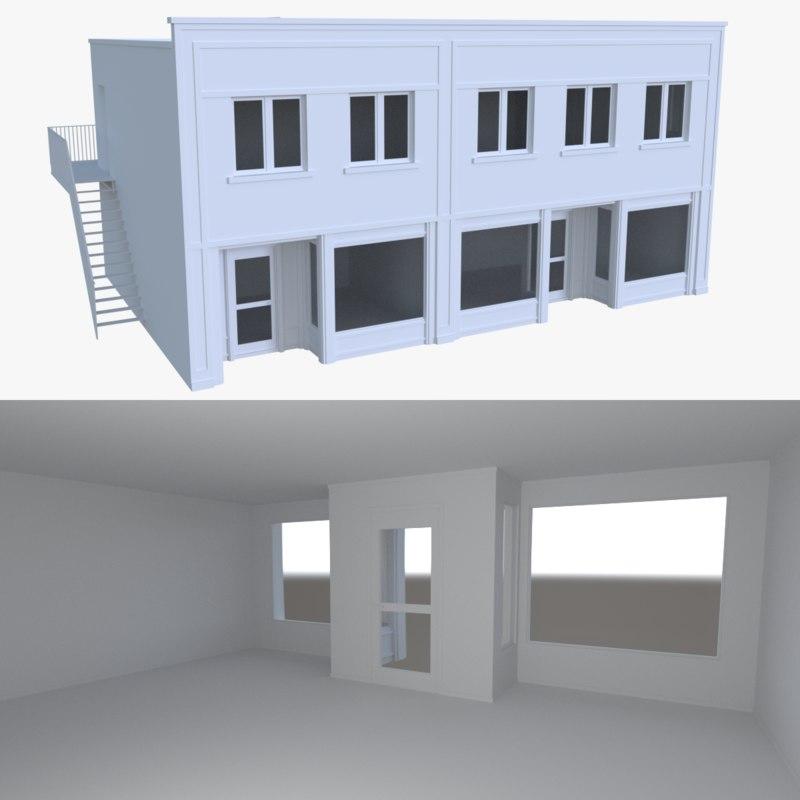 3d model store interior buildings