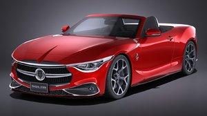 3d model generic sport convertible