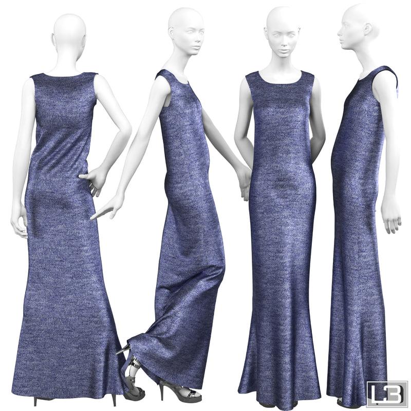 woman mannequin evening 3d max
