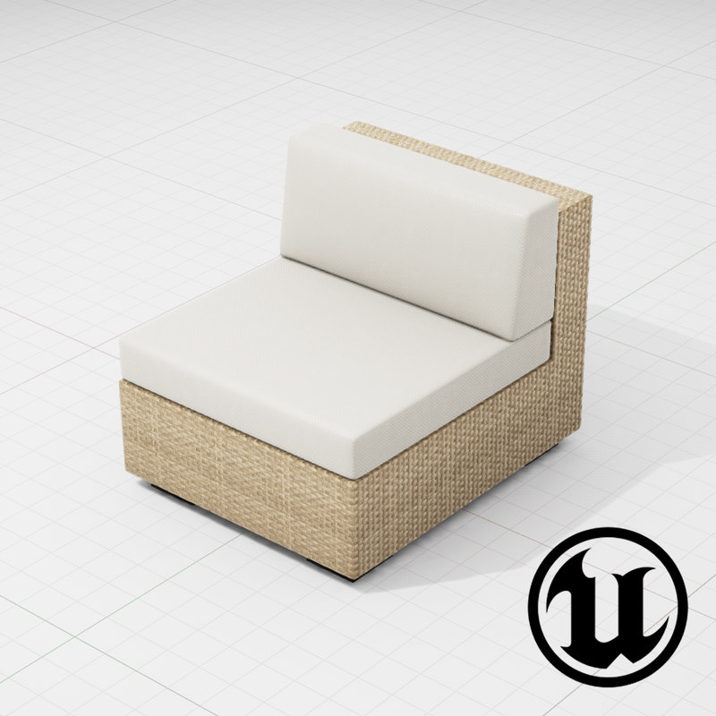patio furniture ue4 3d x