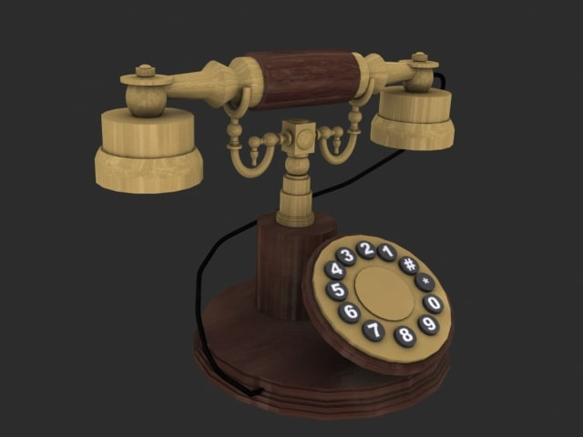 3d model antique phone