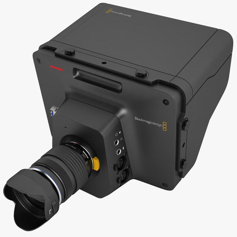3d blackmagic studio camera model