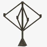 3d candelabra model
