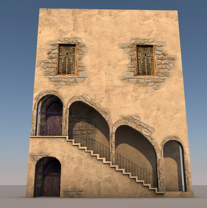 3d obj arabic houses
