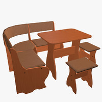 kitchen set furniture 3d model