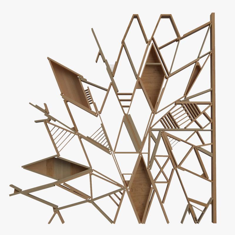 3d model modular wood decor