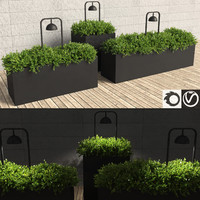 realistic hedge shrubs fitted 3d max