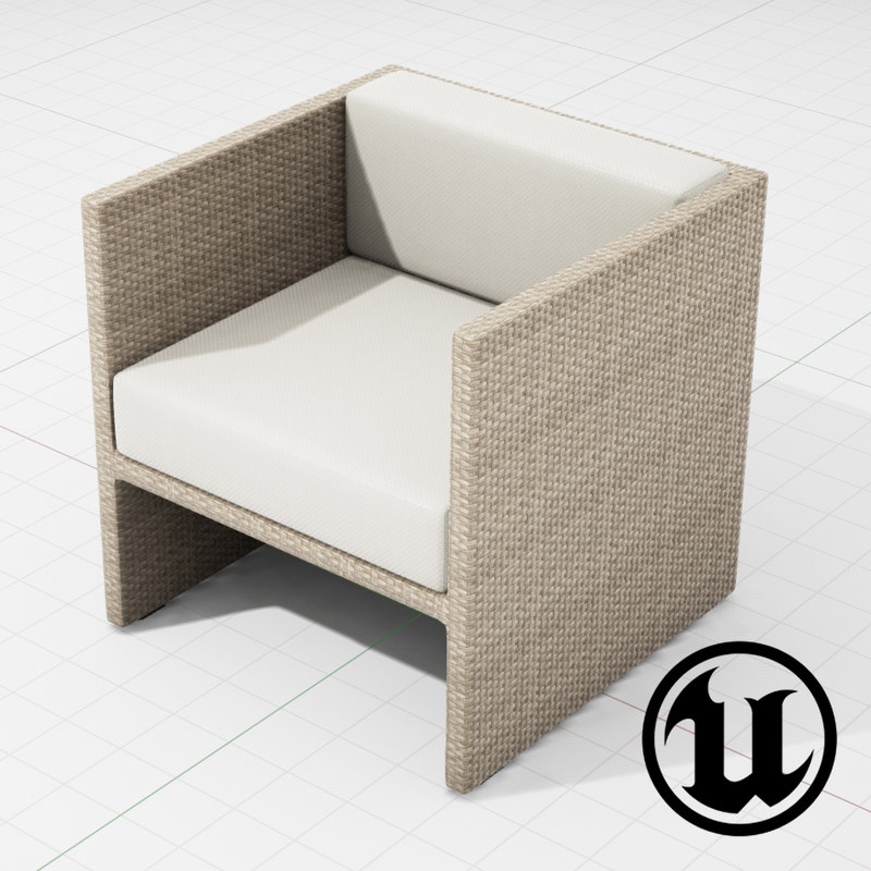 patio furniture ue4 3d model