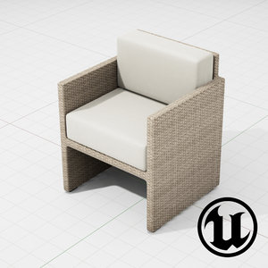 patio furniture ue4 3d model
