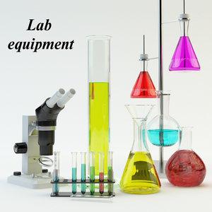 3d lab equipment set
