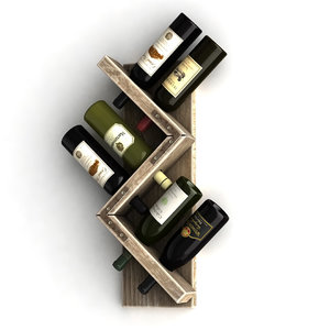wine bottles rack 1 3d model