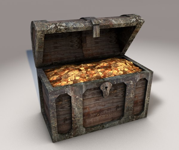 c4d treasure chest