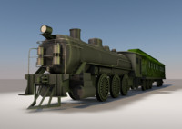 locomotive train c4d