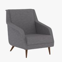 3d carlo carli armchair
