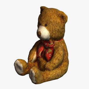 teddy bear 3d 3ds