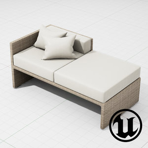 3d patio furniture ue4
