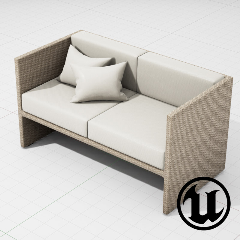 3d patio furniture ue4 model