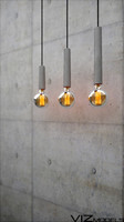 concrete ceiling lamp light bulbs 3d model