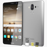 realistic huawei mate 9 3d max