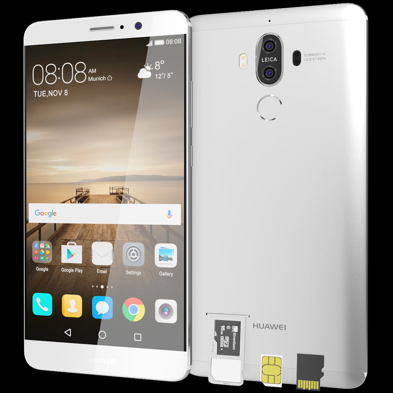 realistic huawei mate 9 3ds
