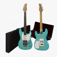 Guitar Godin Session Coral Blue + Case