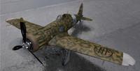 plane macchi mc-200 saetta 3ds