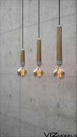 NORDIC PINE & CONCRETE LIGHT BULB (SET)