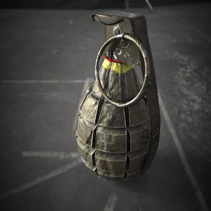 3d model f1 grenade