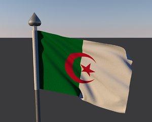 3d model flag algeria
