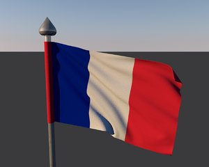 flag france 3d model