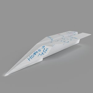 obj paper plane