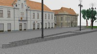 baroque street 6 engraving 3d model