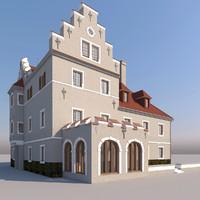 3d model castle building