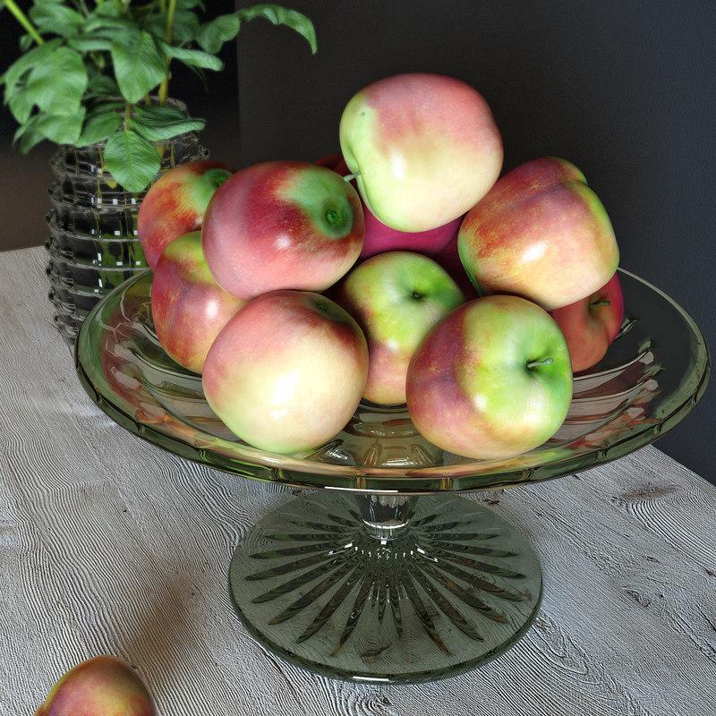 3d model apples vase