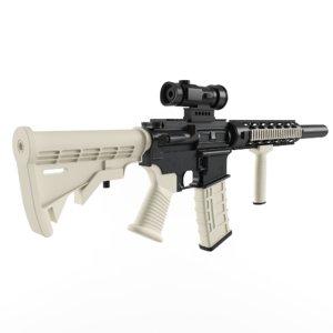 m4 spikes rifle 3d max