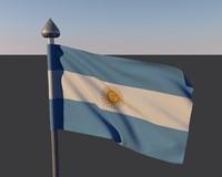 3d model flag argentina