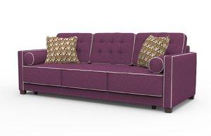 3d model of realistic brabus sofa
